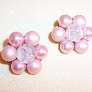 Pearlized Pink Luster Earrings