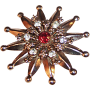 Twelve Ray Star Pin / Pendant