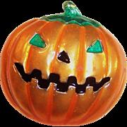 Vintage Large Jack-O-Lantern Pumpkin Pin