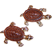 Pair of  Vintage Turtle Scatter Pins