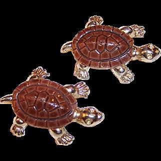 Pair of  Vintage Turtle Scatter Pins