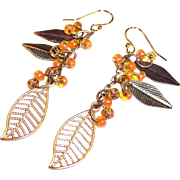 Autumn Leaves Dangling Earrings