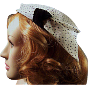 Vintage Polka Dot Knickerbocker Ladies Hat