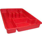 HOT Summer Sale!   Red Lustro-Ware Utensil (Tableware) Tray