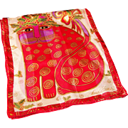 Laurel Burch Festive Feline Christmas Silk Scarf