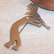 Large Sterling Silver Kokopelli Pin