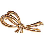 Vintage Monet Stylized Fashion Bow Pin