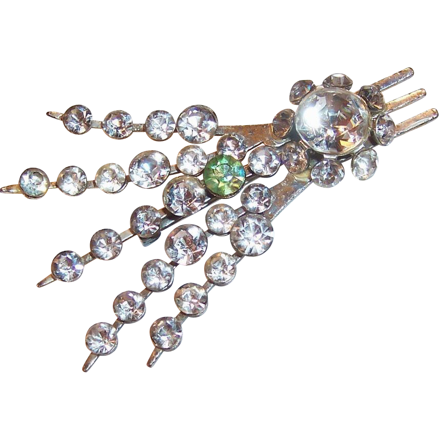 Riveted Rhinestone Spray Pin