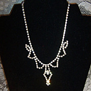 Sparkling Vintage Rhinestone Choker Necklace