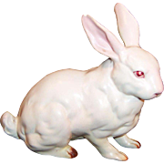 Vintage Lefton H880 White Porcelain Easter Bunny Rabbit