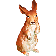 LARGE Upright Lefton Brown Bunny Rabbit H6661