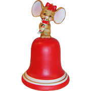 Lefton Christmas Mouse Bell