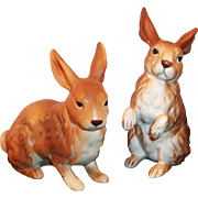 Set of  2:  Lefton Brown Bunny Rabbits H6664