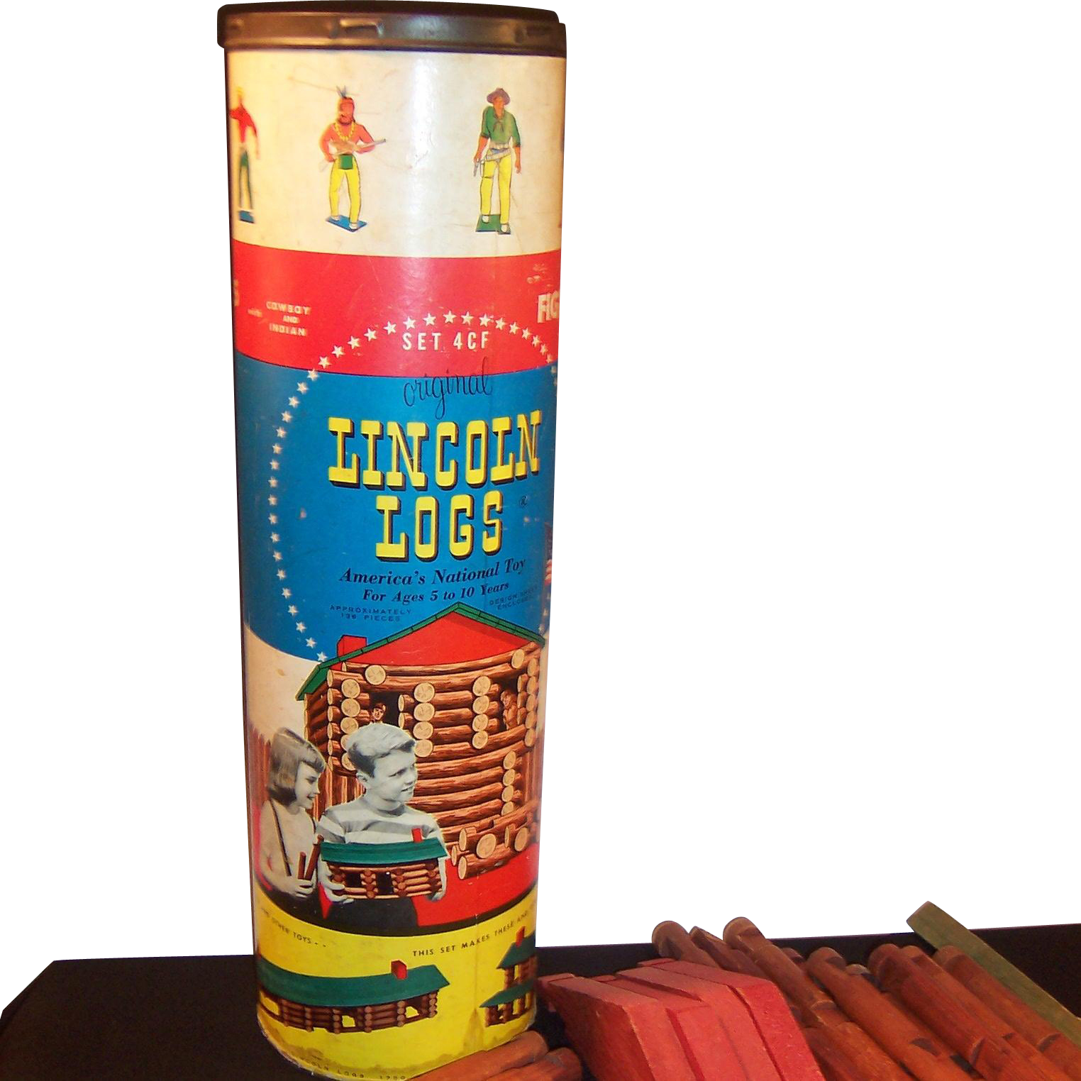 Red Kitchen Canisters Vintage Lincoln Logs Canister For Set 4cf Red Tag Sale