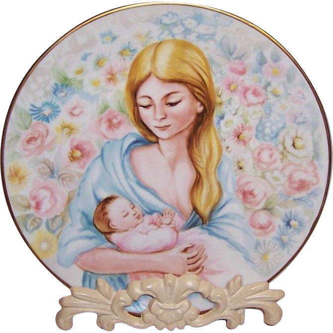 "Phillippe Deshoulieres Limoges French Collectible Plate; ""Louise et Louisette"""