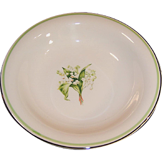 "Homer Laughlin Lily of the Valley Swing 8"" Soup Bowl"