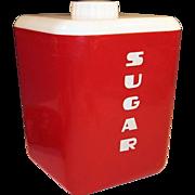 1950's Lustro-Ware Sugar Canister