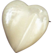 Iridescent Mother Of Pearl  Heart Pin