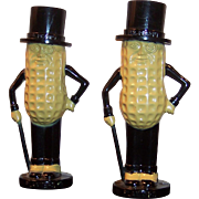Unused Vintage Mr. Peanut Salt & Pepper Shakers