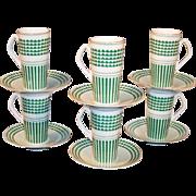 SET OF 6: Irish Coffee / Espresso Cups & Saucers Neiman-Marcus