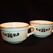 SET of TWO:  Pfaltzgraff Village Soup Mugs