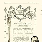 1913: Cosmopolitan Magazine AD: Gorham Silver Spotswood Design
