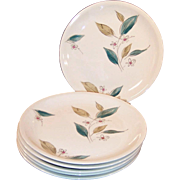 "Set of SIX: 1950's Paden City Biscayne  9  7/8"" Dinner Plates"