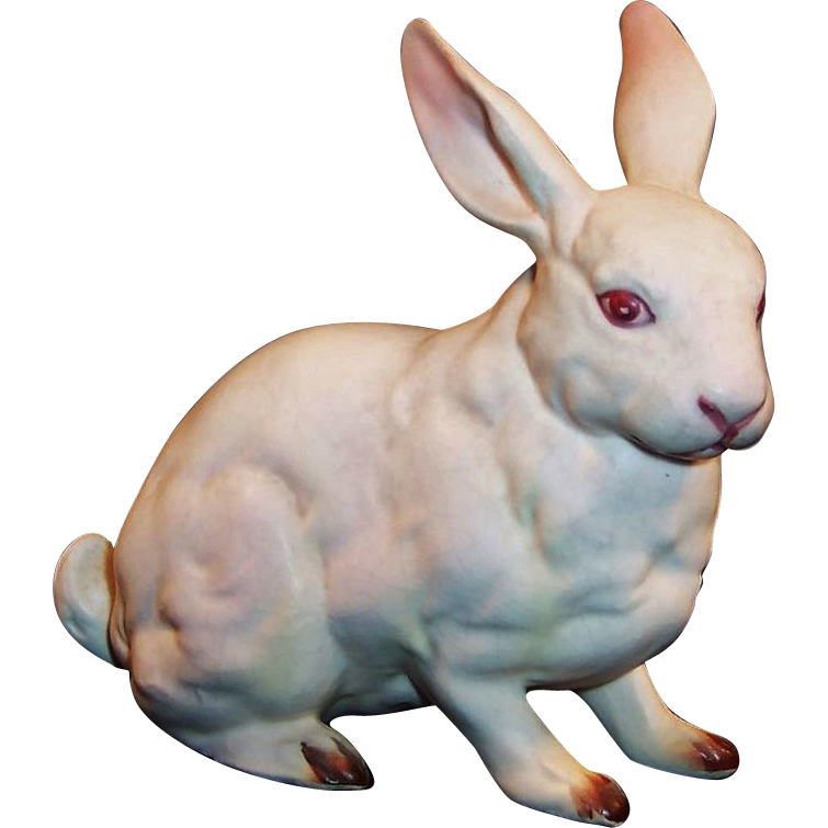 Older Vintage Lefton H880 White Porcelain Easter Bunny Rabbit