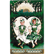 Vintage St. Patrick's Day Postcard Irish Folk Dancers