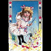 Fourth of July Antique Unused Nash Postcard