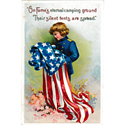 C. 1910 Antique Patriotic Memorial Day Postcard