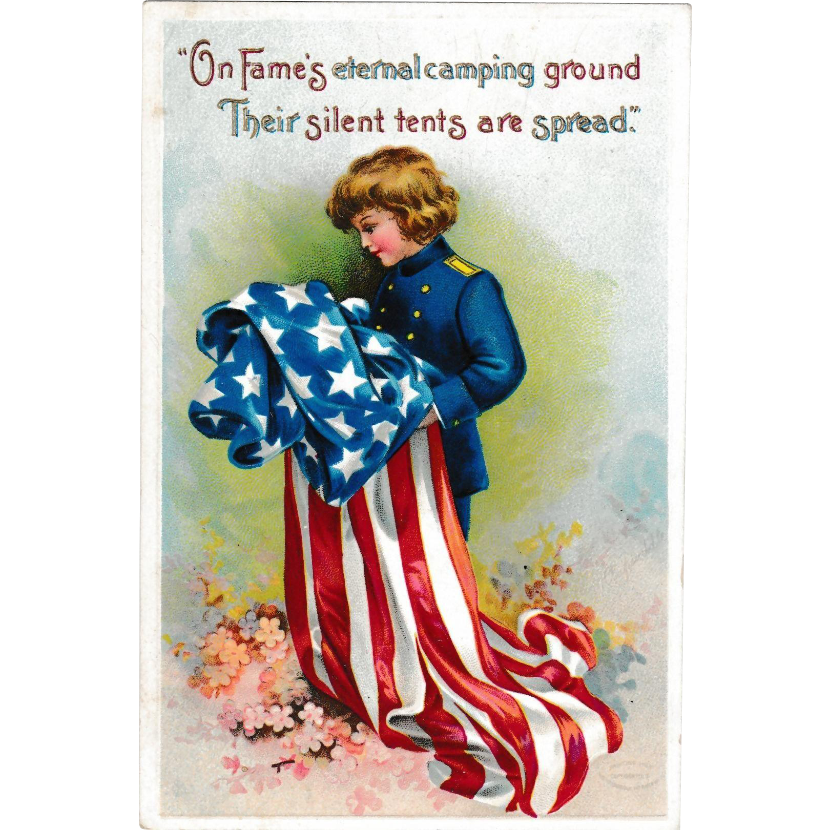 C. 1910 Antique Patriotic Postcard