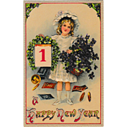 1900 Levelezo-Lap Happy New Years Post Card