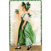 Antique Ellen Clapsaddle St. Patrick's Day Postcard