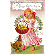 "Antique Raphael Tuck & Sons Easter Postcard ""A Happy Easter to You"""