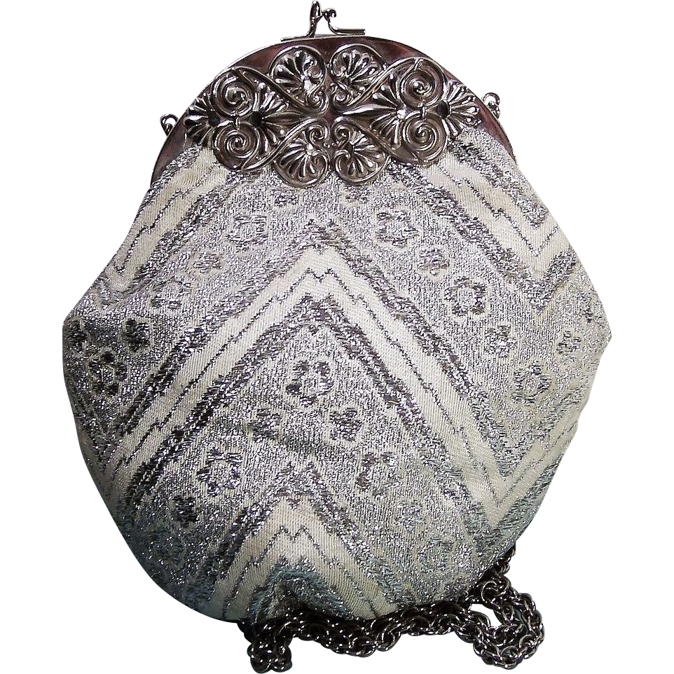 Miami's Vintage Exclusive Faye Mell Designs Silver Evening Purse