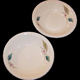 "1950's Paden City Biscayne  5 1/4"" Fruit or Dessert bowl  (2 Available)"