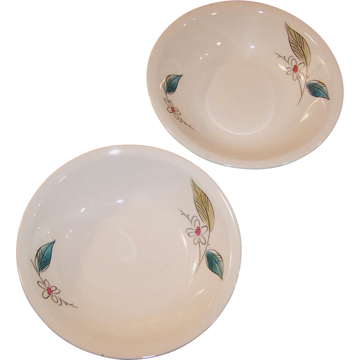 "1950's Paden City Biscayne  5 1/4"" Fruit or Dessert bowl  (2 Available)"