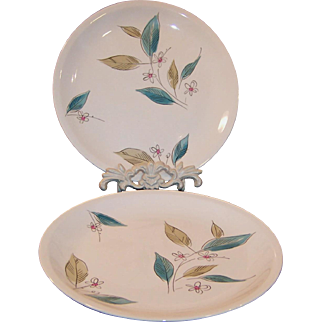 """1950's Paden City Biscayne 10"""" Dinner Plates (2 Available)"""