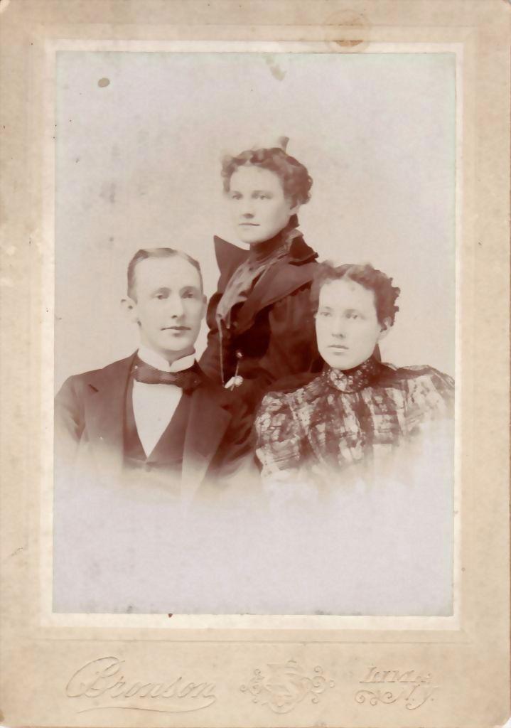 Antique Cabinet Card Photograph  Family Portrait