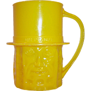 Planters Nuts Vintage Yellow Mr. Peanut Mug