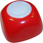 Vintage 1950's Red Pyrex 7 ounce Ramekin