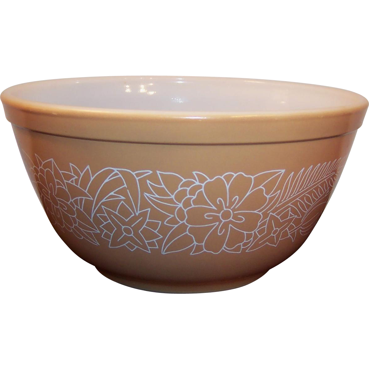 No. 402 Vintage PYREX Woodland Brown Tan 1 1/2 qt Mixing Bowl