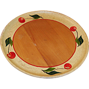 Vintage Wood Robinhood Ware Cherry Plate