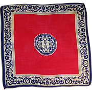 Vintage Red, White, & Blue Hankie