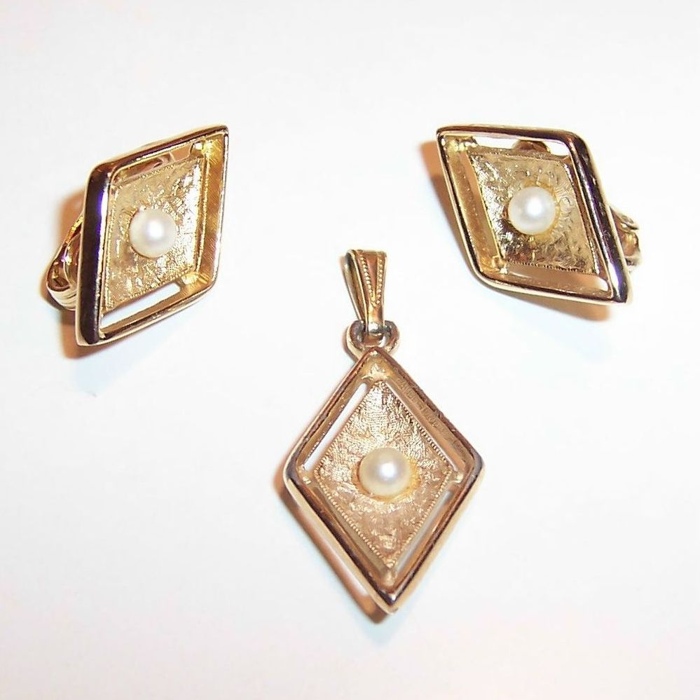 Sarah Coventry Debutante Earrings & Pendant