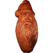 Large Vintage Hand Carved Santa - Red Tag Sale Item