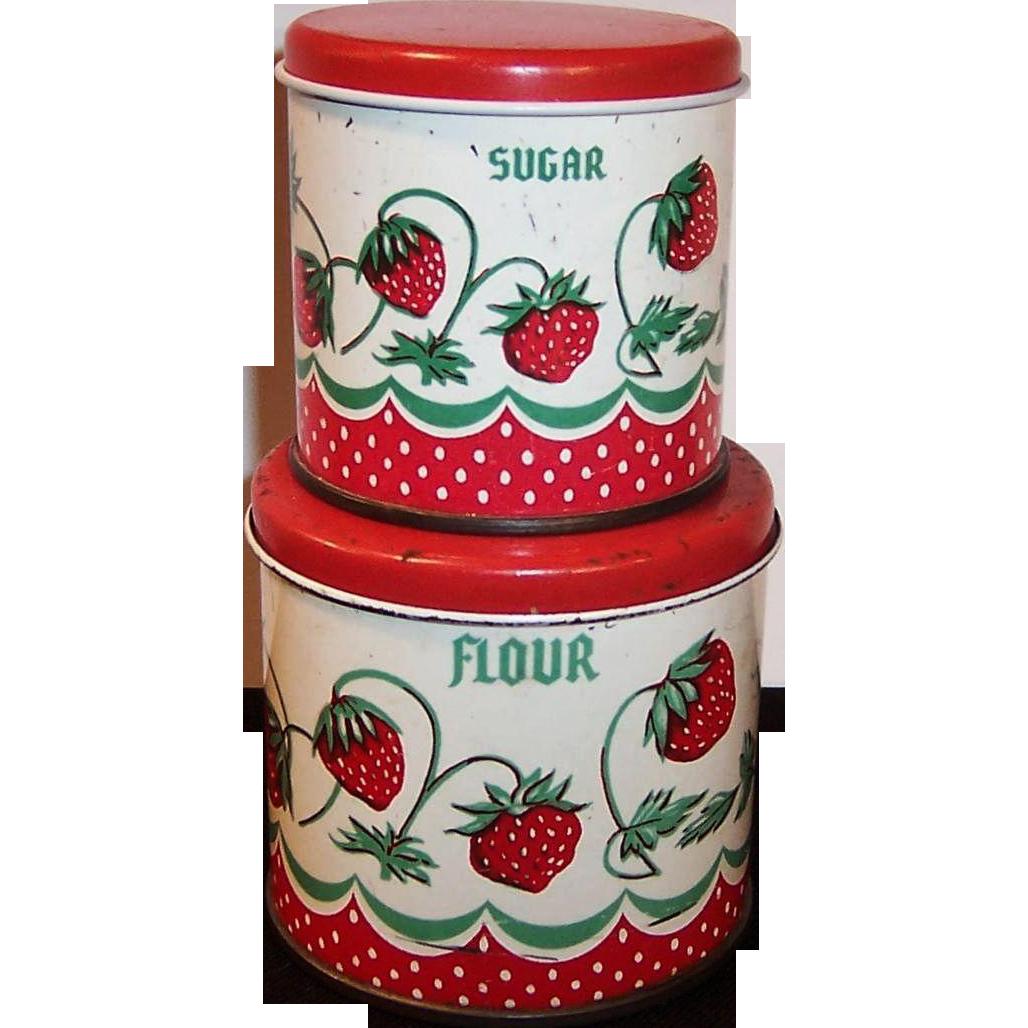 vintage wolverine tin toy strawberry kitchen canisters from vintage wolverine tin toy strawberry kitchen canisters