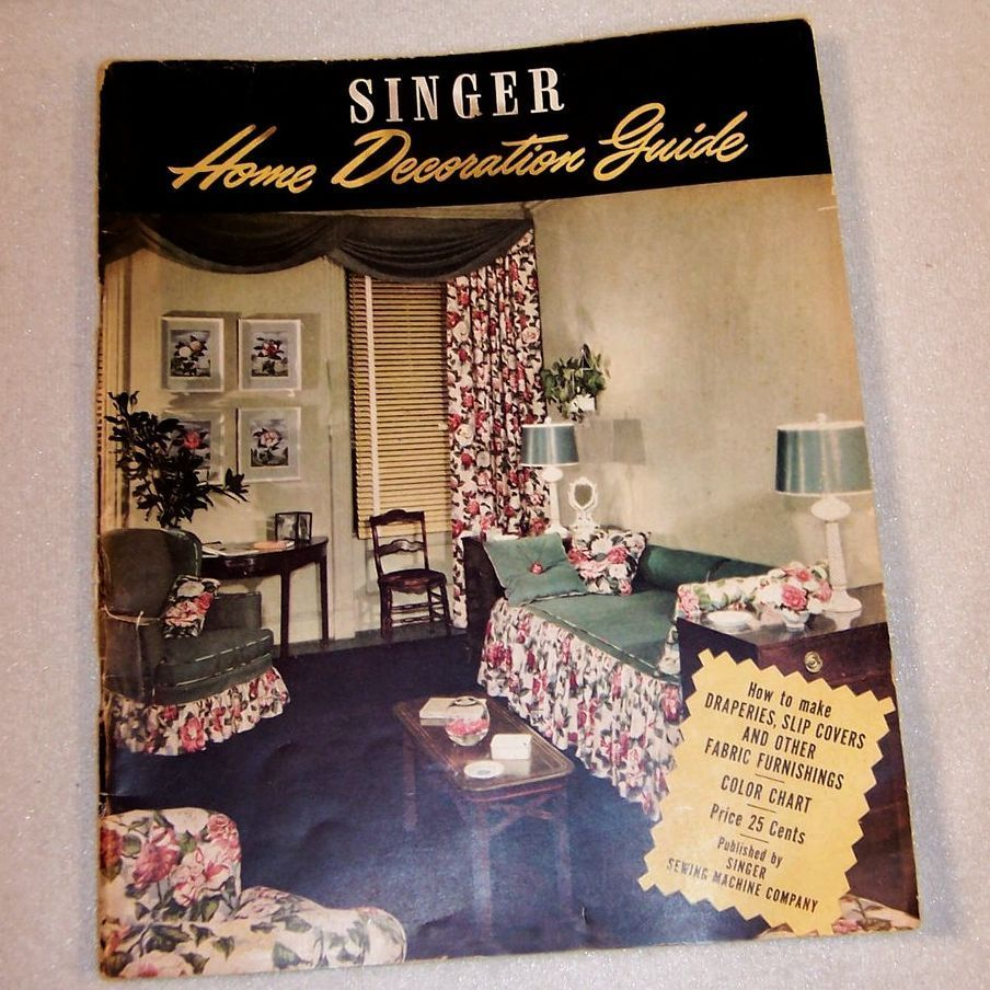 1940 39 s home decoration guide by singer from for 1940s decoration