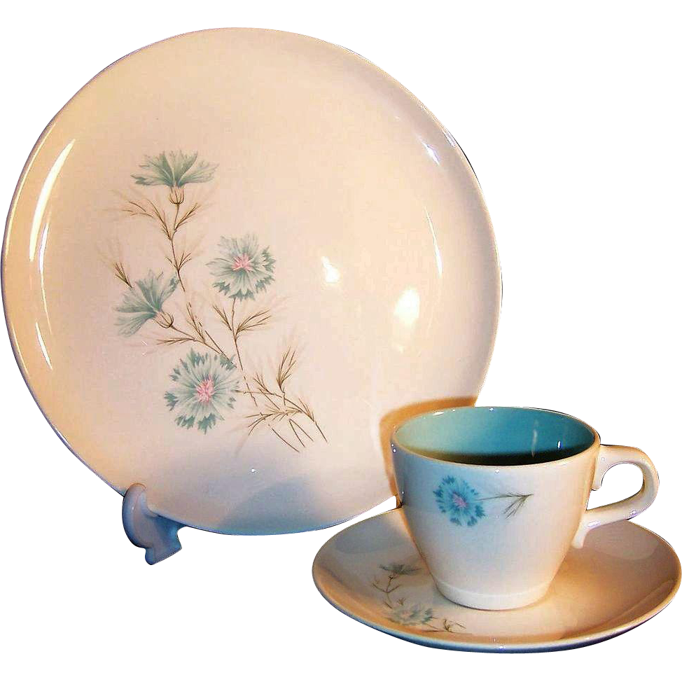 Taylor Smith Taylor Boutonniere Dinner Plate, Cup & Saucer